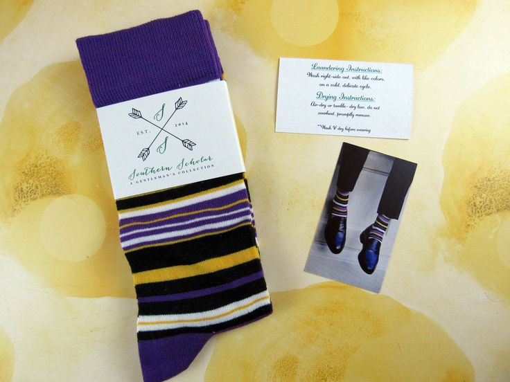 """Southern Scholar had the theme """"The French Quarters"""" for February 2017, just in time for Mardi Gras. See the review of this sock subscription for men!   Southern Scholar Men's Sock Subscription Box Review & Coupon - February 2017 →  https://hellosubscription.com/2017/02/southern-scholar-mens-sock-subscription-box-review-coupon-february-2017/ #SouthernScholar  #subscriptionbox"""