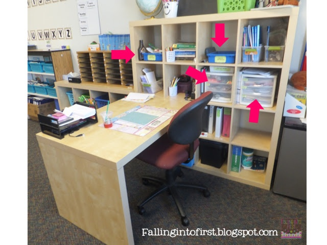 Falling into first tips to organize your workspace back - Classroom desk organization ideas ...