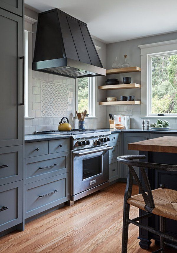 Credit A Beautiful Mess In All Of The Remodeling Excitement Don T Forget About The Flooring If Your Craf Craftsman Kitchen Kitchen Design Open Kitchen Style