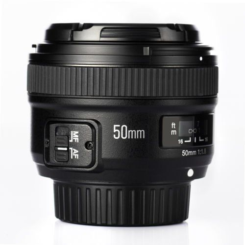 Yongnuo 50mm F1.8 1:1.8 Standard Prime Lens Large Aperture Auto Manual Focus AF MF for Nikon DSLR Camera - ZonHunt