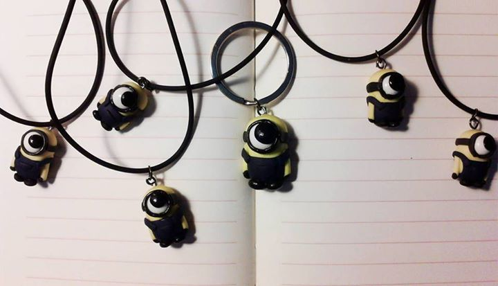 miniature minion necklace | despicable me jewelry