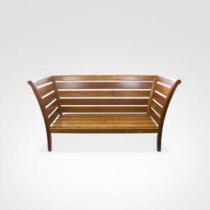 Sofá Vitoriano em madeira Cumaru