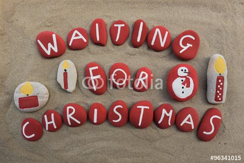 """Download the royalty-free photo """"Waiting for Christmas on red colored stones"""" created by Ciaobucarest at the lowest price on Fotolia.com. Browse our cheap image bank online to find the perfect stock photo for your marketing projects!"""