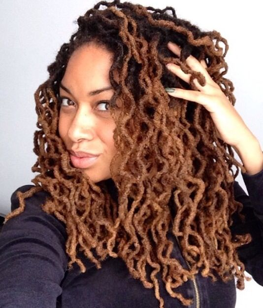 hair loc styles the curl the color the hair locs are beautiful 1112