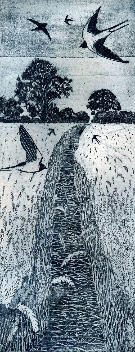 Flight Path  - a way through a wheat field in late summer