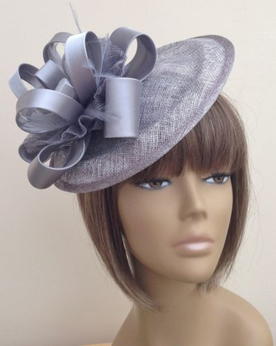 New Bespoke Silver Grey Hat Weddings Mother of The Bride ...
