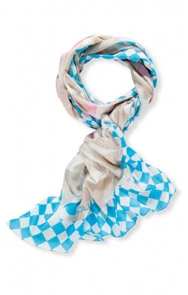 Traditional scarf- SH150 - turquoise (Alpenkönigin)