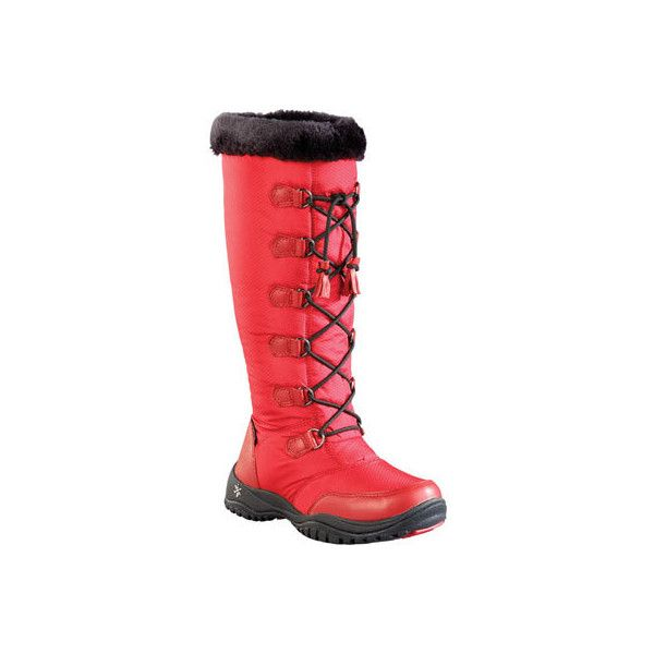 Women's Baffin Eska Snow Boot - Red Casual ($180) ❤ liked on Polyvore featuring shoes, boots, casual, red, winter boots, waterproof footwear, baffin shoes, baffin boots, water proof boots and red boots