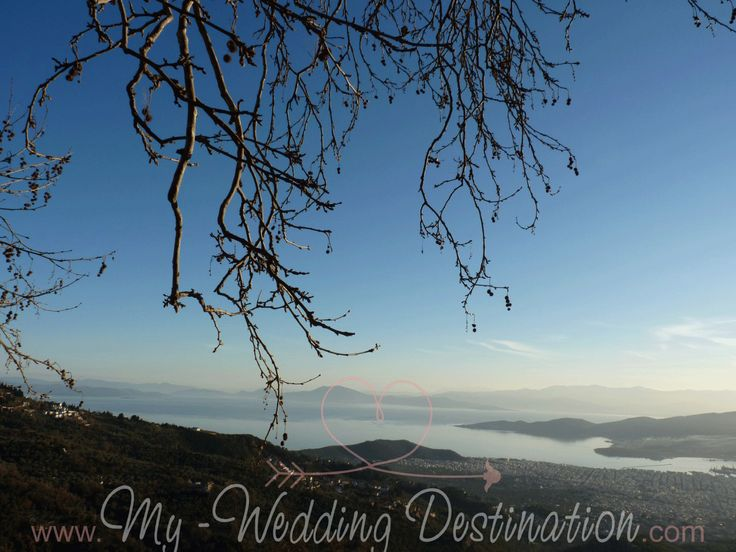 Βόλος / Πήλιο...ένας μοναδικός προορισμός 12 μήνες τον χρόνο, μια καταπληκτική επιλογή για έναν ονειρεμένο γάμο...  The view of Volos from Makrynitsa Pelion