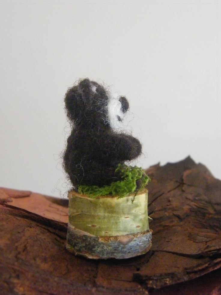 Choco Ted Pebbler, needle felted by Patricia at All Things Handcraft, Pebblewood Ireland.
