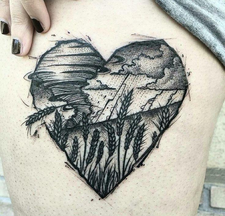 Cute tattoo... tornado in your heart
