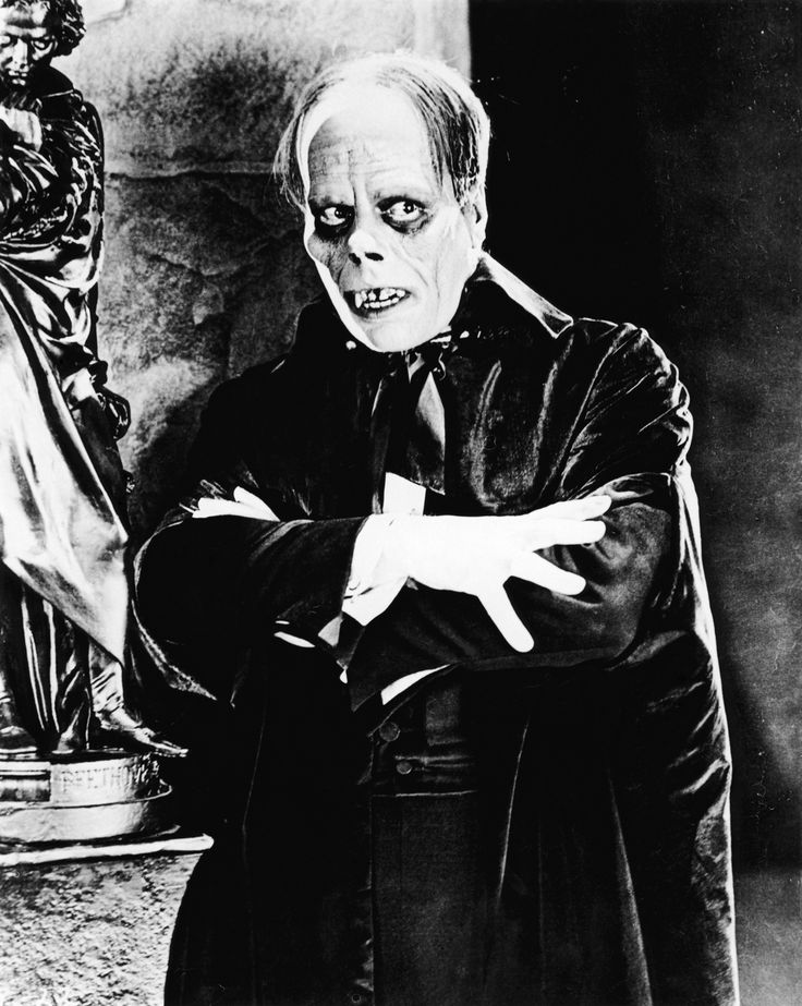"Lon Chaney as Erik/The Phantom in ""The Phantom of the Opera"":"