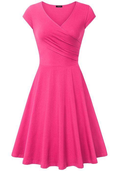 Bridesmaid Dress Short,Laksmi V Neck Urban Retro Curve Bridesmaid Gown,XX-Large Light Rose