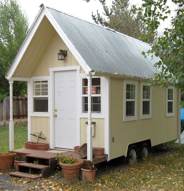 Offered with finished interior walls, no built ins or rooms for $15,000 in 2009. This is the first Tiny House I have seen with rain gutters.