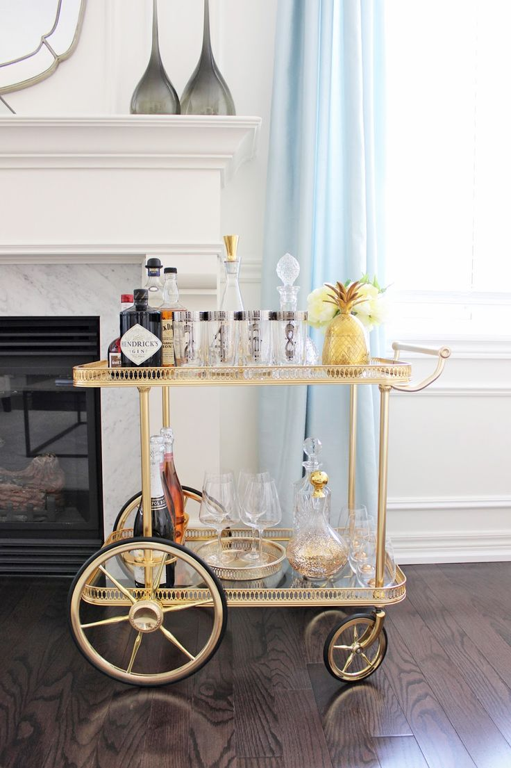 Best 20+ Brass bar cart ideas on Pinterest | Bar cart styling, Bar ...