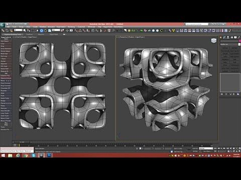 3d Tutorial | Cubic Lattice Abstract | 3dsmax