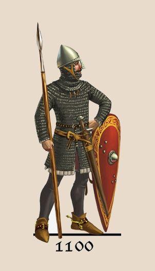 1100 Armadura utilizada en la península ibérica durante la Edad Media.