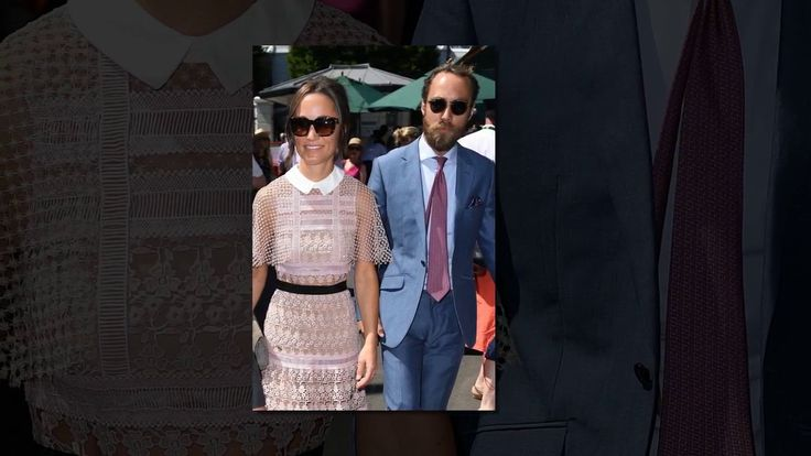Pippa Middleton takes inspiration from the tennis courts arriving at Wimbledon 2017 in a lacy