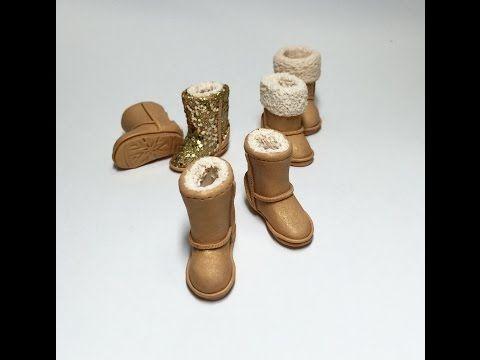 Making Miniature Ugg Boots With Polymer Clay(폴리머클레이로 미니어쳐 어그부츠 만들기) - YouTube