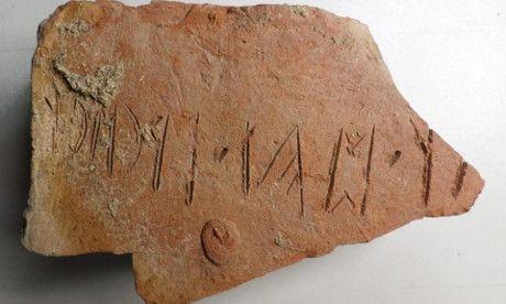Az első rovásírásos emlék, amit a  Székelytámadt várban találtak