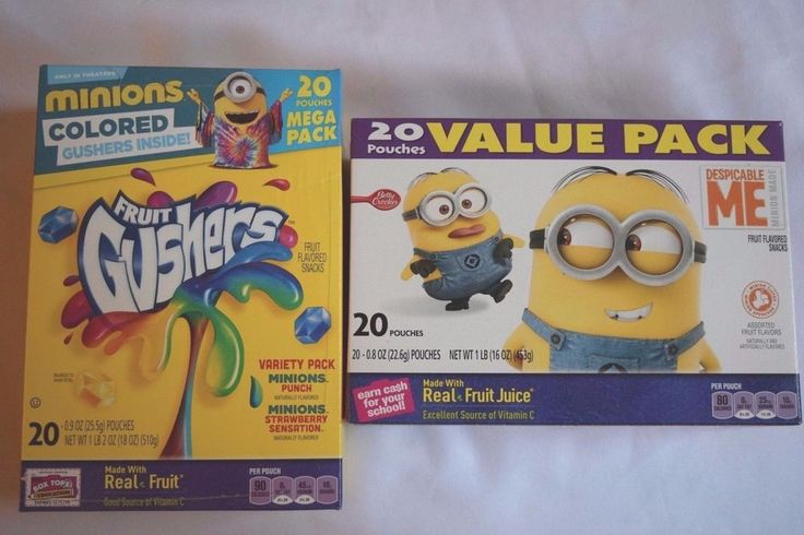Betty Crocker Minion Fruit Gushers + Minions Fruit Snacks 40 pouches NEW Fresh #BettyCrocker