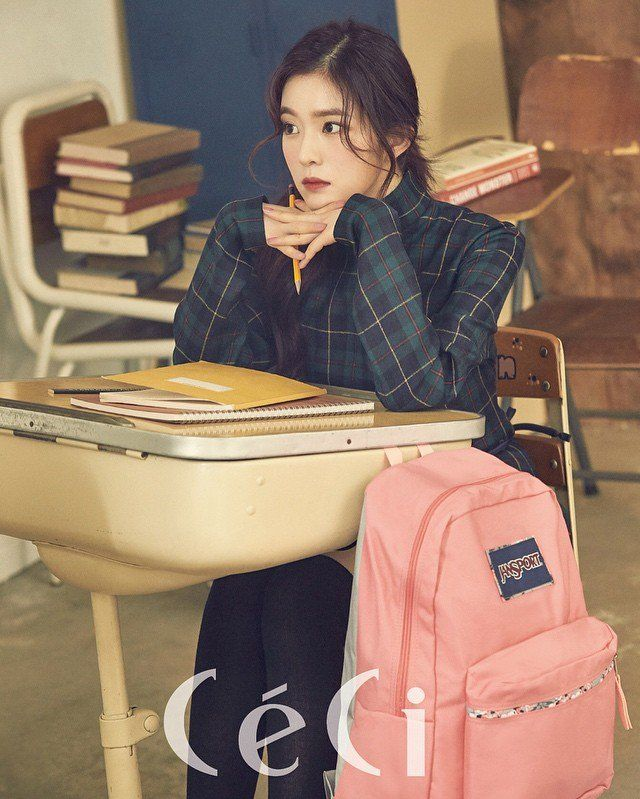 Red Velvet's Irene and Joy rock Jansport backpacks for 'Ceci' | allkpop.com