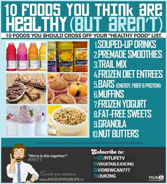 Health Foods That Aren T Healthy