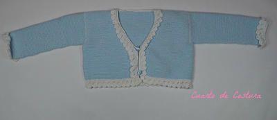 Patron para chaqueta con puntilla de picos calados en perle