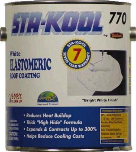 Sta-Kool SK-7701 Elastomeric Roof Coating, 1 Gallon, White