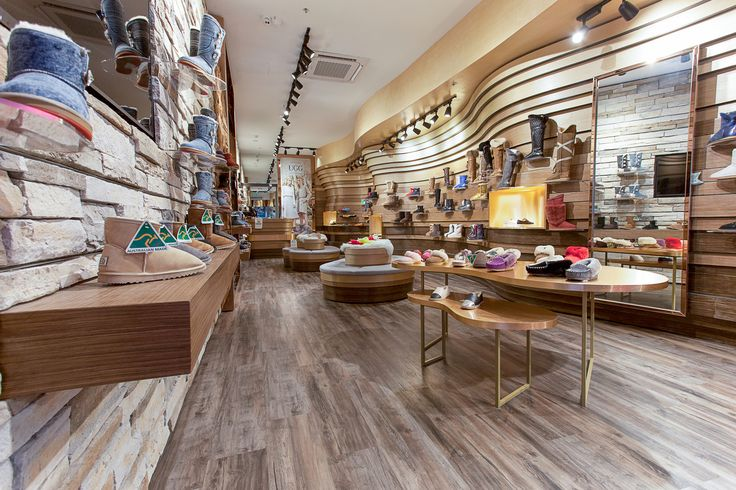 Enviroven™ | This recently completed project at Suttons Uggs Australia in Haymarket, Sydney features Enviroven™ in four different decors. The combination of Sandal Oak, Merino, Limed Walnut and Murray Walnut work beautifully together to produce an amazing retail space.
