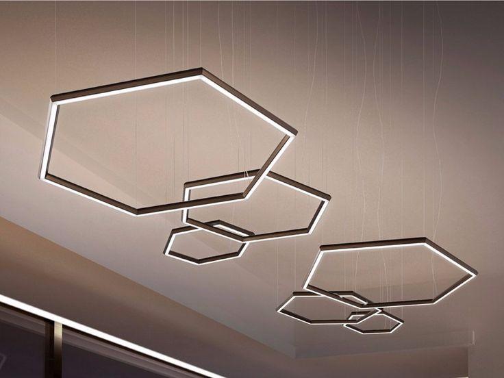 Lámpara colgante LED POLY ESAGONO by Olev by CLM Illuminazione diseño Michele Marcon
