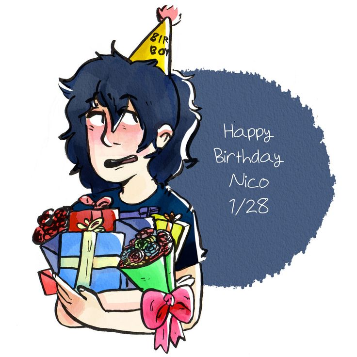 Happy birthday Nico<<<<< HAPPY BIRTHDAY NICO!!!! I KNOW IT'S A DAY LATE BUT WHATEVER!!!! HAPPY BIRTHDAY!!!!!!