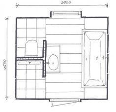 17 beste idee n over kleine badkamer indeling op pinterest kleine badkamers kleine kelder - Kleine badkamer in lengte ...