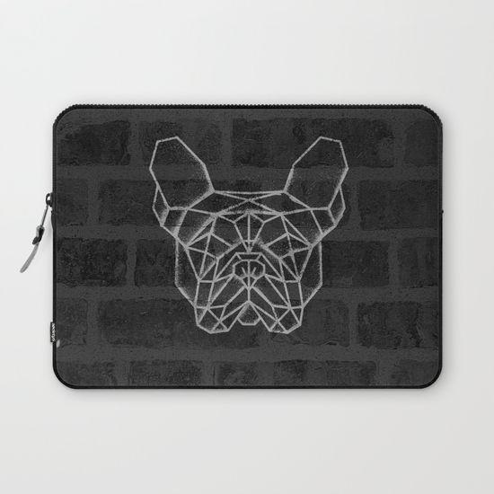 French Bulldog Laptop Sleeve. #geometric #french #bulldog