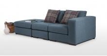 Abingdon, un fauteuil modulable en bleu céruléen