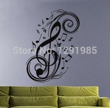 Музыка Сердца наклейки на стены говоря виниловые буквы домашнего декора стикеров этикеты котировки моды Плакат