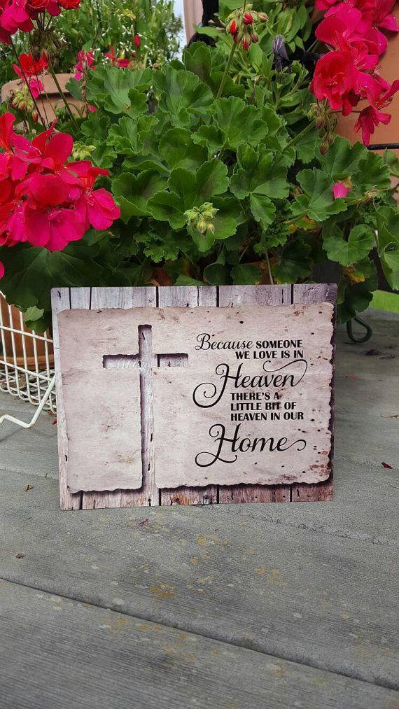 heaven in our home, memorial gift, in memory, condolence gift, metal art, memorial art, loved one, metal art, religious gift, spiritual gift