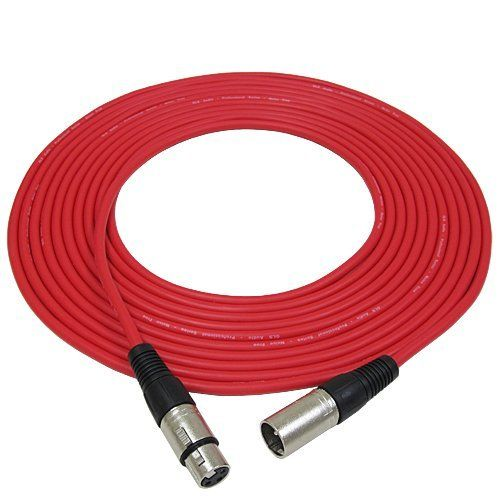 """GLS Audio 25ft Mic Cable Patch Cords - XLR Male to XLR Female Red Microphone Cables - 25' Balanced Mike Snake Cord - RED by GLS Audio. $17.99. Professional Series Noise Free Mic Cables. They have a thick, high quality, flexible rubber jacket. They are heavy duty Noise Free """"True Balanced LO-Z"""" and have 3 pin XLR connectors on each end. These cables have dual insulated copper conductors plus they are shielded. They are hand wired & hand soldered and have high quality m..."""
