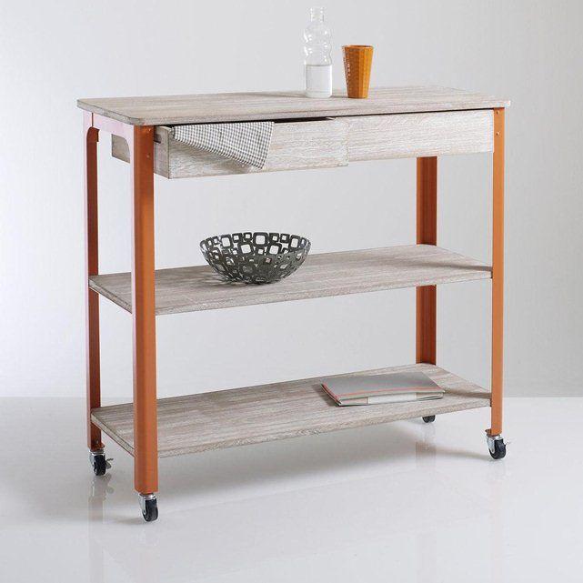 desserte roulettes m tal et bois zane la redoute interieurs for the kitchen pinterest. Black Bedroom Furniture Sets. Home Design Ideas