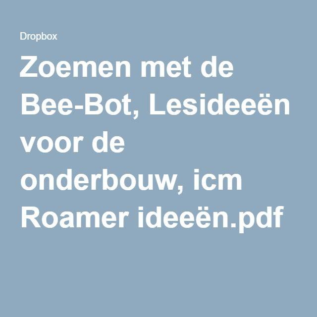 Zoemen met de Bee-Bot, Lesideeën voor de onderbouw, icm Roamer ideeën.pdf