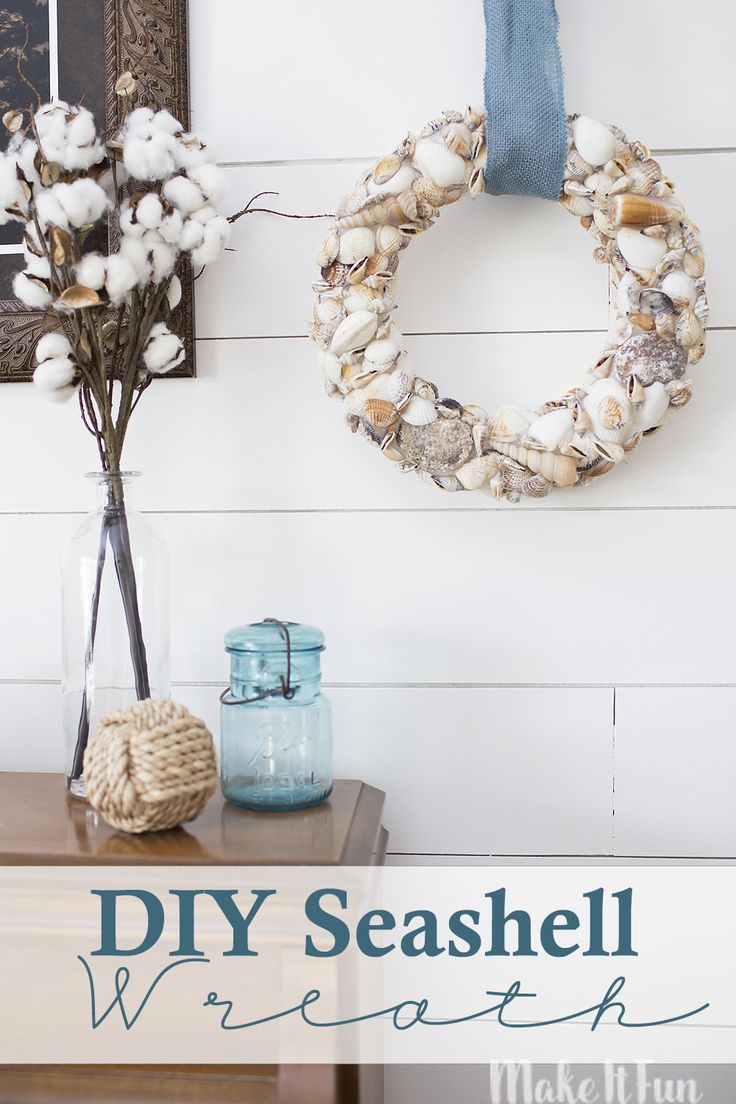 Make It Fun Blog | DIY Summer Seashell Wreath