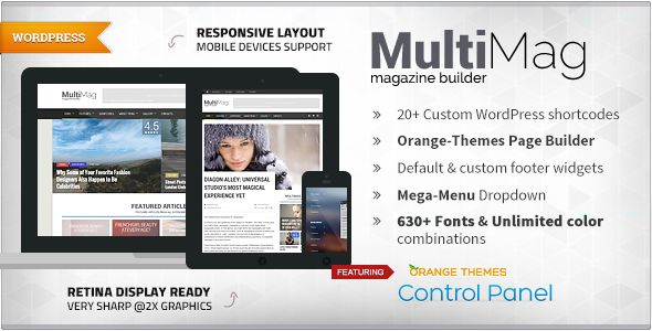 MultiMag - Multipurpose Magazine Theme . MultiMag has features such as High Resolution: Yes, Widget Ready: Yes, Compatible Browsers: IE9, IE10, IE11, Firefox, Safari, Opera, Chrome, Edge, Compatible With: WPML, BuddyPress 2.3.x, BuddyPress 2.2.x, BuddyPress 2.1.x, BuddyPress 2.0.x, WooCommerce 2.5, WooCommerce 2.4.x, bbPress 2.5.x, bbPress 2.4.x, Visual Composer 4.11.2.1, Visual Composer 4.9.x, Visual Composer 4.9, Software Version: WordPress 4.5, WordPress 4.4.2, WordPress 4.4.1, WordPress…