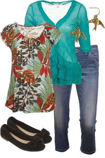 Native Garden Gal Outfit includes Clarity By Threadz, Levis, and Human Premium - Birdsnest Australia