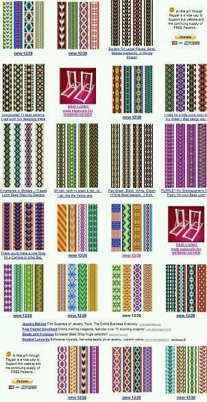 loom beading patterns bracelets #LoomBeading
