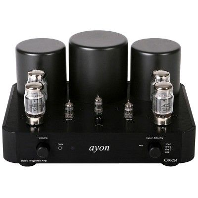 "The Orion II represents a dramatic rethinking of vacuum tube based integrated amplifier industrial design while retaining the basic architecture as our highly regarded ""Spirit"" amplifier."
