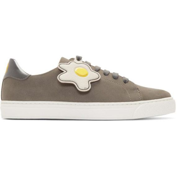Grey Wink and Egg Tennis Sneakers