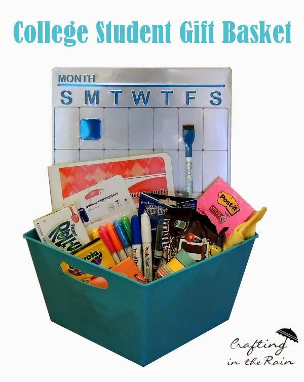 Crafting in the Rain: College Gift Basket
