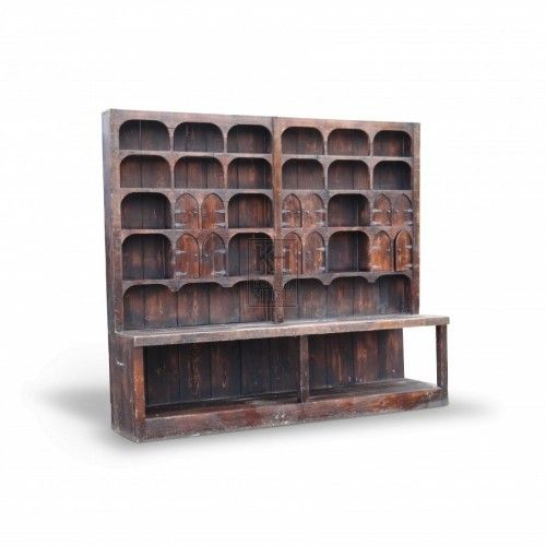 Large wooden apothecary cupboard.