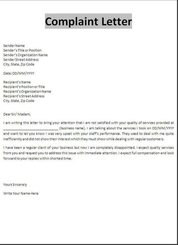 Tenant complaint letter - Tenant Complaint Letter is from a landlord to inform a tenant that complaints have been received about his or her behavior.