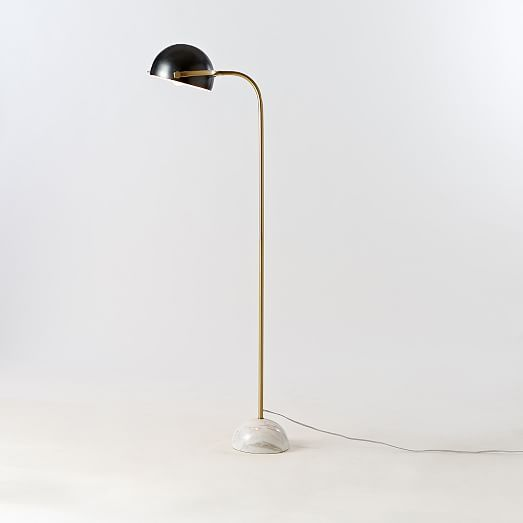 clint floor lamp from west elm white marble base antique. Black Bedroom Furniture Sets. Home Design Ideas